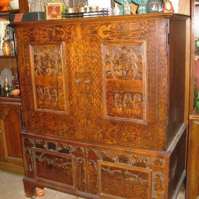 Thomas O'Brien armoire for Hickory  Chair, Beautiful Asian inspired entertainment cabinet                       BUY IT NOW $ 585.00