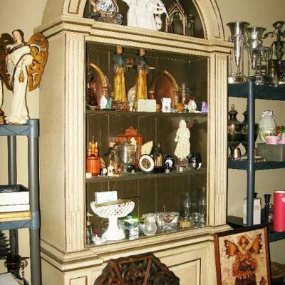 large tall dome top curio storage cabinet   BUY IT NOW $ 145.00