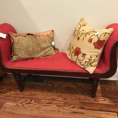 Regency style fabric bench $250