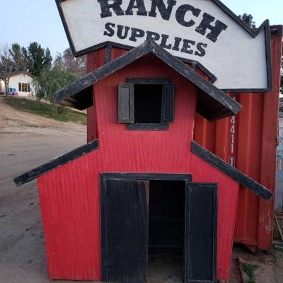 Ranch Supplies Sign Measures approximately 9.5' x 8' x 3'