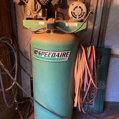 1500: 80 Gallon Speedaire Compressor Works great