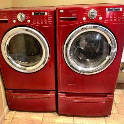 LG Electronics Inc. Washer and Dryer SteamDryer  Gas Dryer Model Number- DLGX7188RM Front Load SteamWasher with Allergiene Cycle Model...