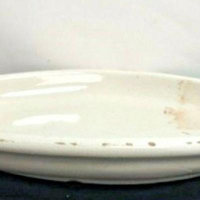 https://www.ebay.com/itm/124082616340 SM3042: MEDIUM WHITE PLATTER POTTERY CRACKED