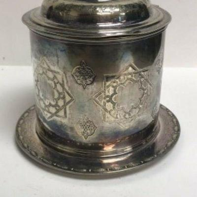 https://www.ebay.com/itm/114113096502 SM3033: SILVER OR SILVERPLATE? DECORATIVE DISH WITH ATTACHED LID AND PLATE