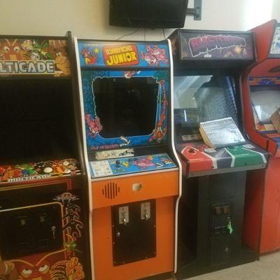 Vintage Arcade Games Donkey Kong Atari Asteroids and more!
