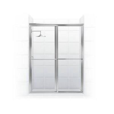 Coastal Shower Doors Newport Series 52 x 70 Framed Sliding Shower Door with Towel Bar and Clear Glass
