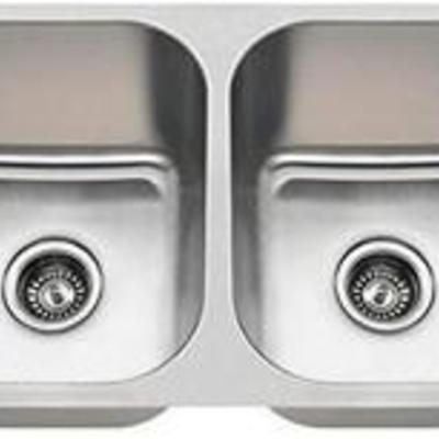 3218C 16 Gauge Undermount Equal Double Bowl Stainless Steel Kitchen Sink