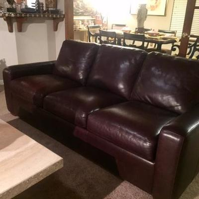 Brand name leather sofa