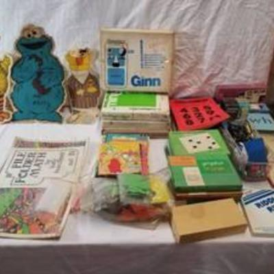 Lot of Childrens School Supplies, with Sesame Decor , Pens and Pencils and More