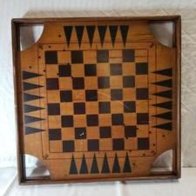 Archarena Combination Game Board , Checkers , Backgammon, Chinese Checkers And More
