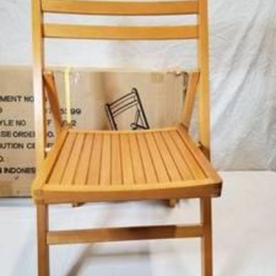 Indonesian Wooden Fold Out Chair Set Of 4