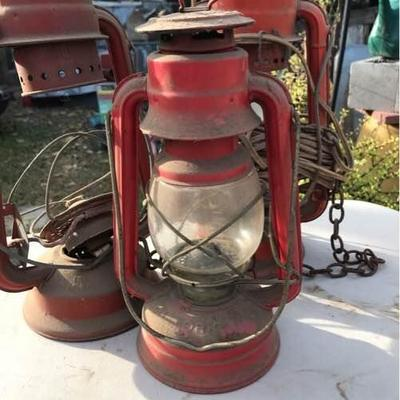 1 DIETZ Electric Lantern and Two Other Lanterns