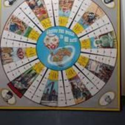 1957 Vintage Around the World in 80 Days Game. Board only