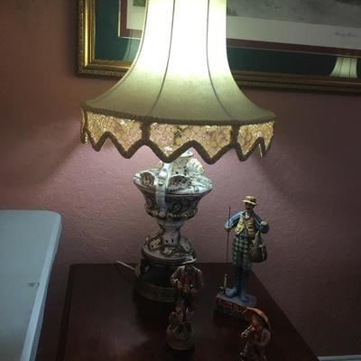 capodimonte lamp set (pair)