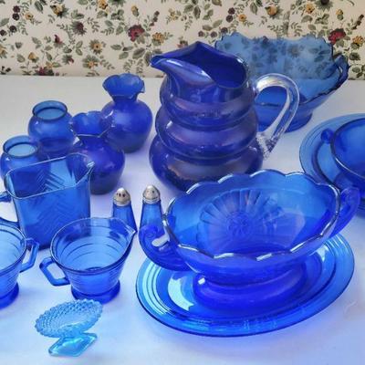 cobalt blue glass