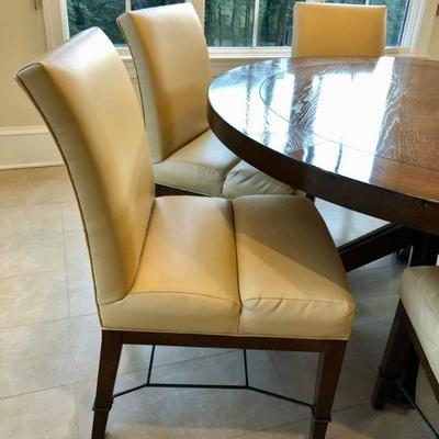 Costum Made Kravet Breakfast Table And Chairs. $3,500