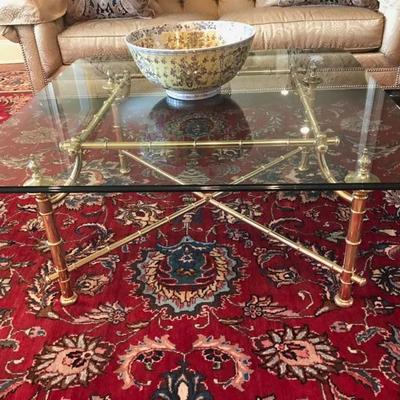 Brass and glass coffee table $1,325 original price $4,000