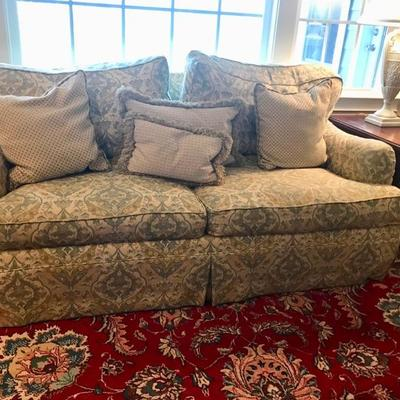 Sofa with down pillows $795 each 2 available 73 X 39 X 33