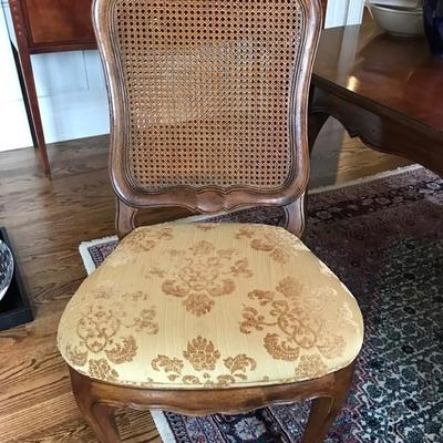 Ethan Allen French Provincial set of 6 double caned and upholstered dining chairs $1,250