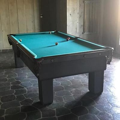 1920's Brunswick pool table