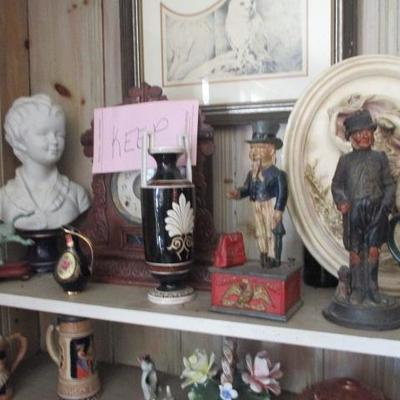 Rare Biscuit Busts Of Boy and Girl Limoges By Jean-Antoine Houdon vintage Banks and more