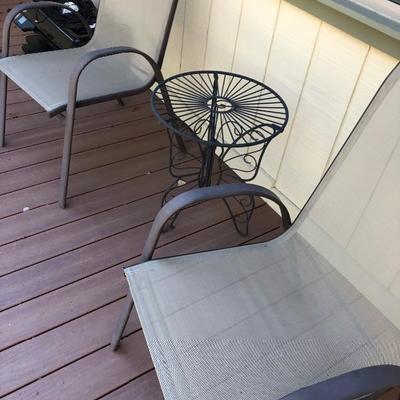 Each chair $25  Side table $30