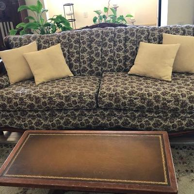 Antique couch was recently recovered for $900 : OUR PRICE $500 OBO   Coffee table $45