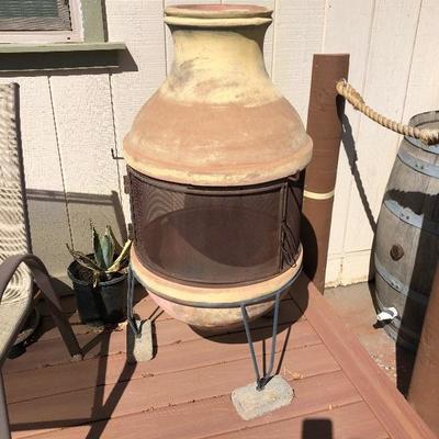 Wood burning chimney $ 90
