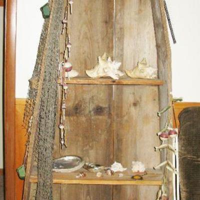 Canoe rustic shelf  BUY IT NOW $ 80.00