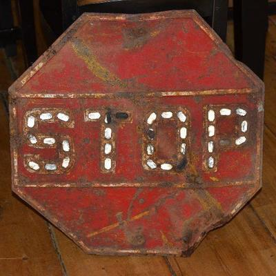 Vintage Hard to find Stop sign with reflectors