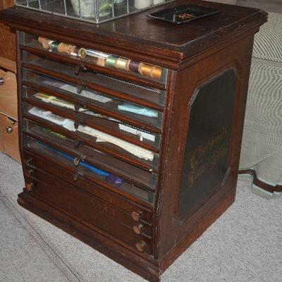 Very Rare Antique Sewing Cabinet, AMAZING!