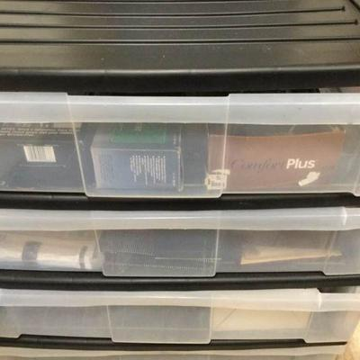 WST010 Four Plastic Drawers with Mystery Items