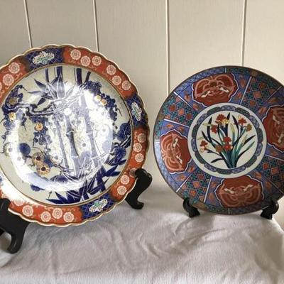 WST014 Two Vintage Japanese Plates