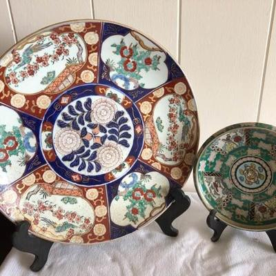 WST016 Two Gold Imari Plates