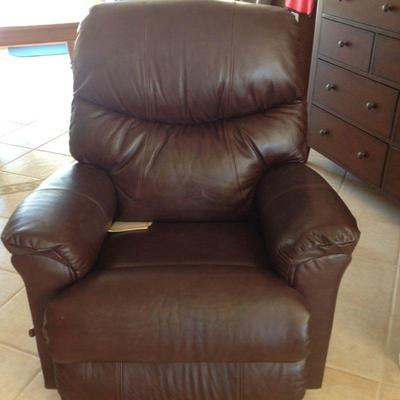 Leather recliner less than 1 year old. Originally $800 asking $350