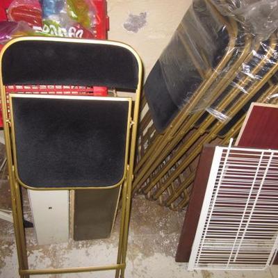 Plush Folding Chairs (8)