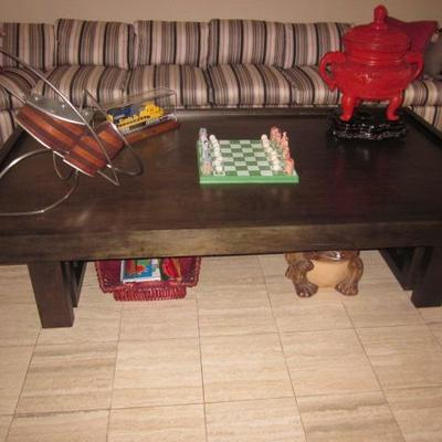 Lovely Custom Sectional Sofa & Tables