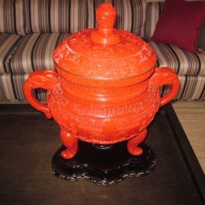Vintage Chinese Cinnabar