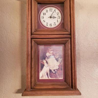WOOD MANTLE SHELFCLOCK WITH