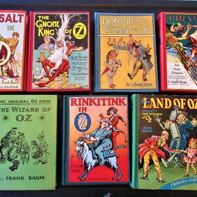 Vintage Oz books