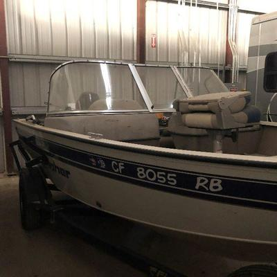 2014 Fisher Sport Avenger 16.5 with Bimini top and 60 HP, 6 stroke