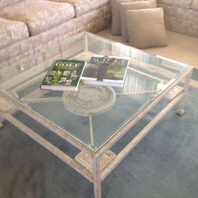 coffee table and 3 side tables