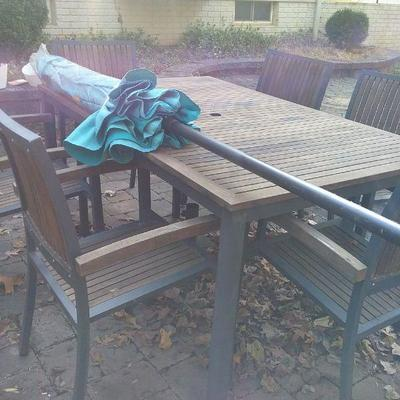 Cedar or Teak Outdoor Table and Chairs