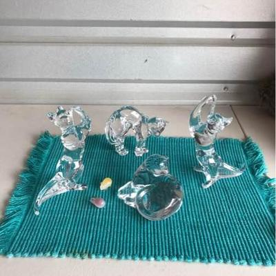 Baccarat Crystal Cat Figurines