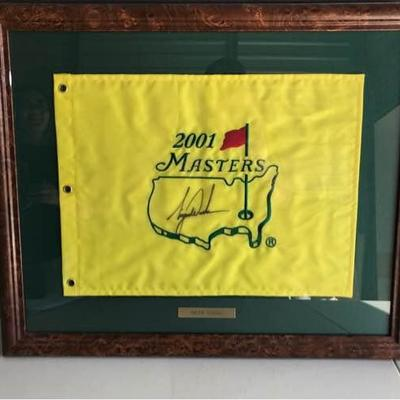 Authentic Tiger Woods 2001 Masters Flag