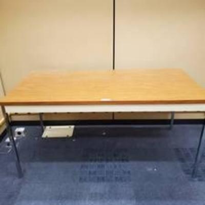 Metal and Wood Vintage Desk