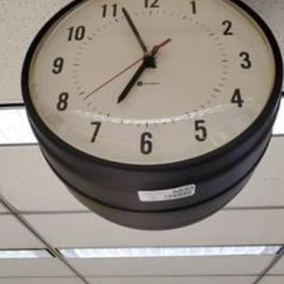 #Simplex Double Sided Vintage Clock Buyer Must Remove