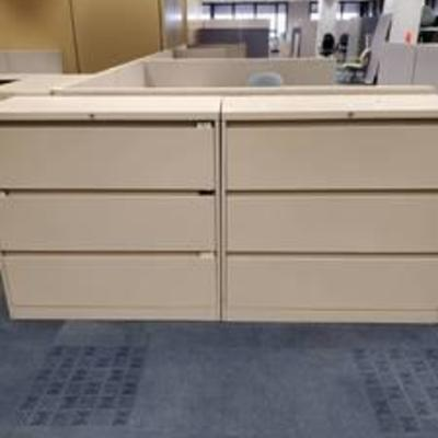 Lot of 3 Drawer Steelcase Lateral Files