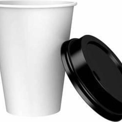 Amazon Brand - Solimo 12oz Paper Hot Cup with Lid