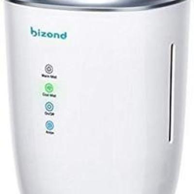 BIZOND Ultrasonic Humidifier Ultra Quiet - Warm and Cool Mist Humidifier